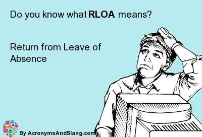 RLOA meaning - what does RLOA stand for?