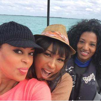 Claudia Jordan, Cynthia Bailey and Auta Lopes filming Below Deck. Where is Kenya?
