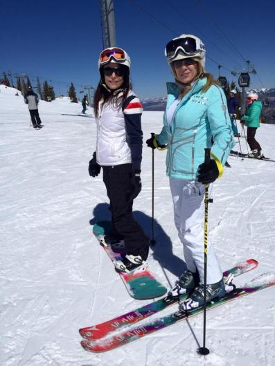 Bethenny and Ramona hit the slopes in Aspen in March of this year