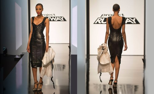 Project Runway Candice Black Leather