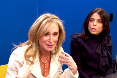 The ugliness of Bethenny's shirt is not fully depicted here.