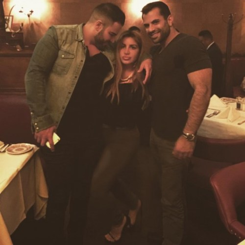 """Mike on his birthday 10/12/15 with Mercedes and """"New Mike"""""""