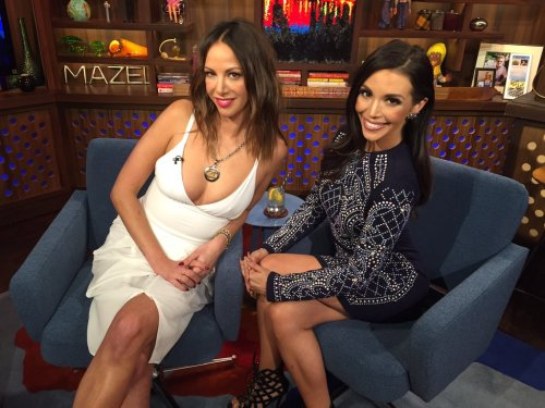 WWHL Kristen Doute and Scheana Shay