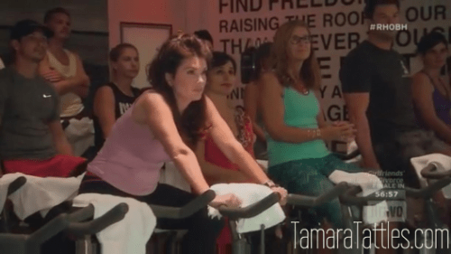 RHOBH Soul Cycle  Lisa Vanderpump