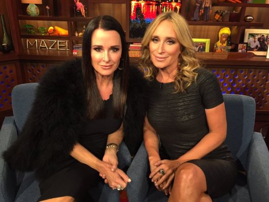 Kyle Richards and Sonja Morgan on WWHL