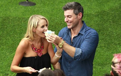 Jeff Schroeder proposes to his girlfriend Jordan Lloyd, at the BIG BROTHER house, where they met five years ago. They were joined by their family, dog and current Houseguests for a celebration. This will air on BIG BROTHER Sunday, September 7 (8:00 -- 9:00 PM, ET/PT) on the CBS Television Network. Photo: Lisette M. Azar/CBS ©2014 CBS Broadcasting, Inc. All Rights Reserved