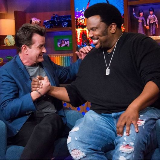 Charlie Sheen on WWHL With Craig Robinson
