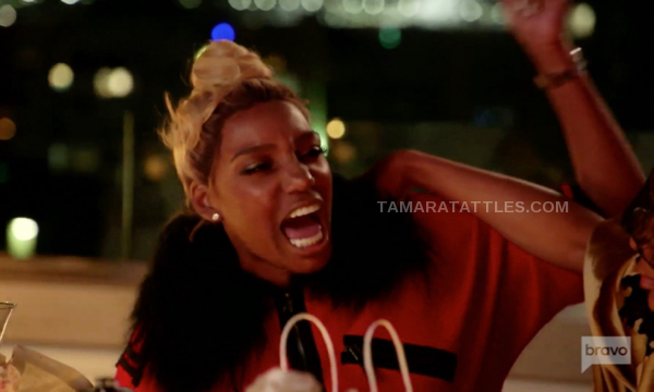 Nene Leakes screaming in anger