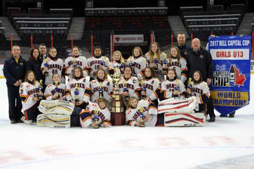 Tamarco supports girls hockey in Barrie, Ontario