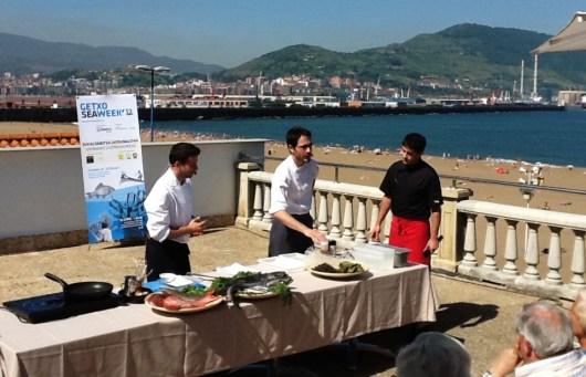 Javier Izarra y Paul Ibarra en la Getxo Sea Week