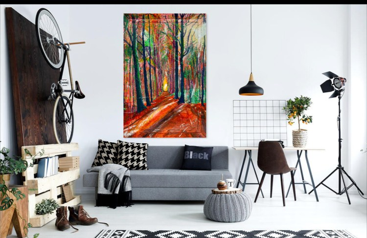 Preview this painting of Tervuren in Autumn in Belgium as viewed in your home.