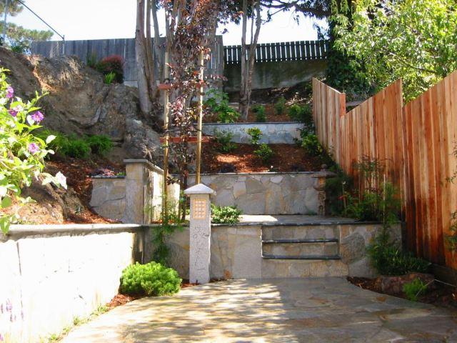 custom retaining wall project