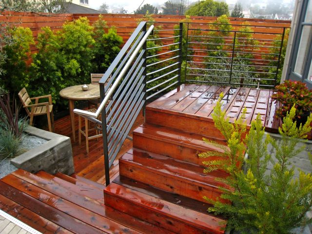 redwood patio and deck construction