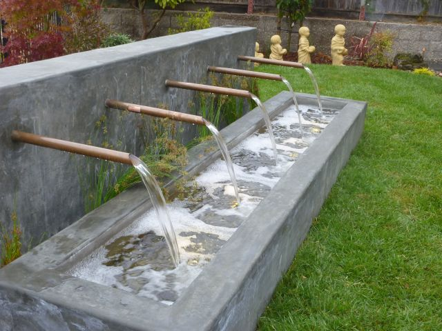 custom concrete fountain construction