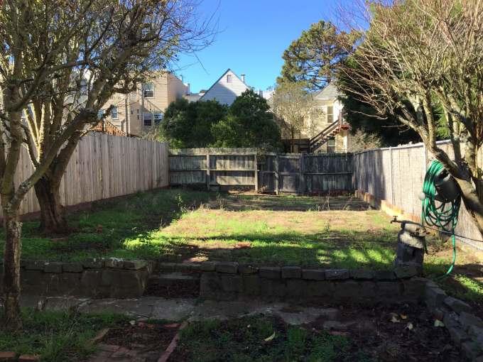 Before backyard landscaping