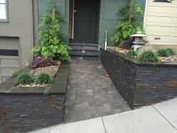 Picture of completed Asain landscaping project, front
