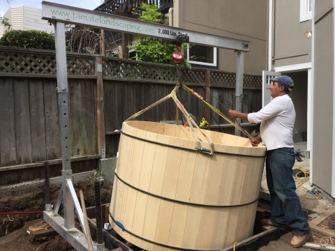 Bernal Heights, Installing a Cedar Tub