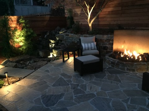 Landscape Lighting at Night, Finished Project