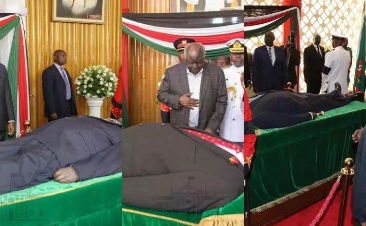 Daniel arap Moi donned a different suits for three days