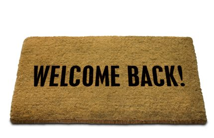 Welcome Back Mat