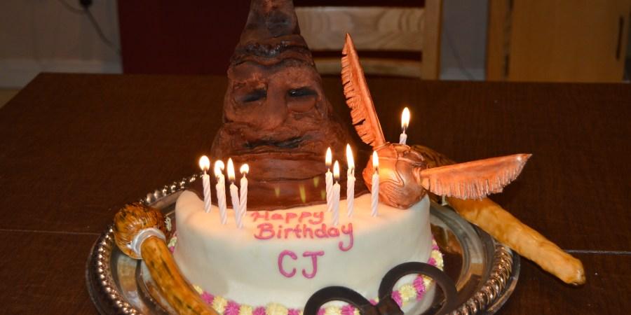Swell Harry Potter Birthday Cake Tameras Tidbits Funny Birthday Cards Online Elaedamsfinfo