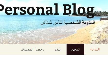 كيف تضع تبويبات لمدونتك باستخدام القوائم والتصنيفات (2/3)
