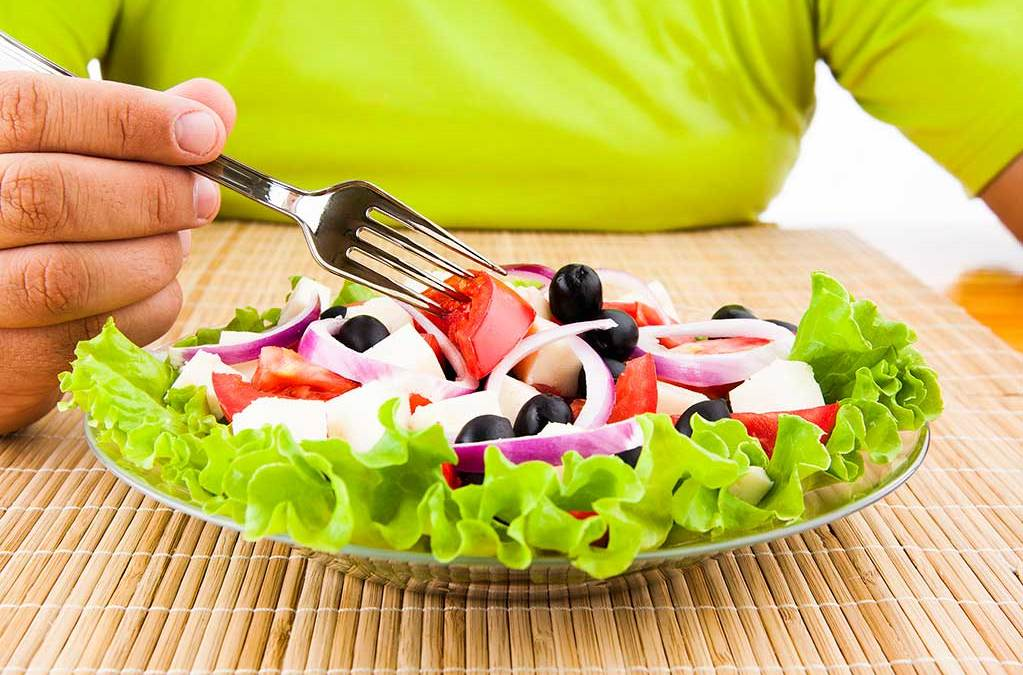 Salad plate and fork