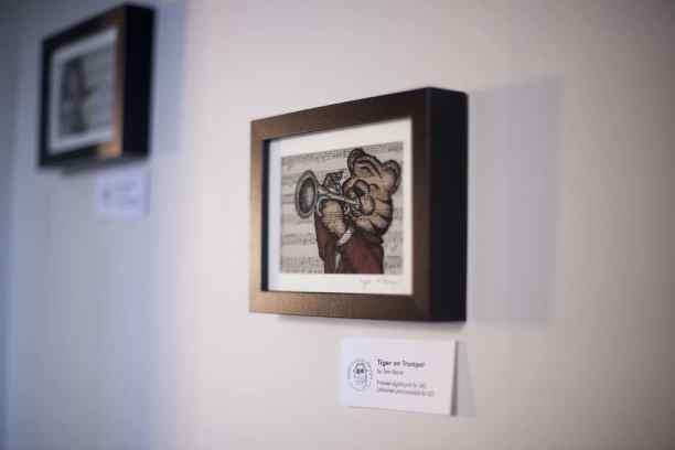 Framed Digital Tiger Print