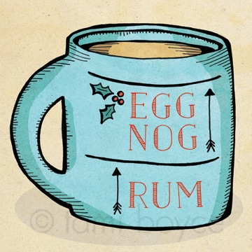 egg nog and rum