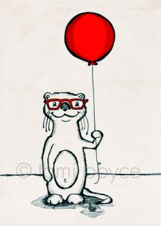 balloon otter with glasses