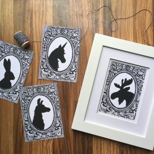 silhouettes collage