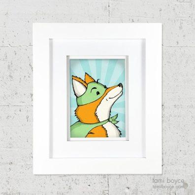 1_fox framed on wall