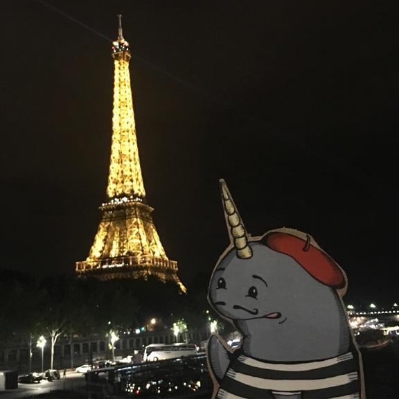 Mort in Paris, Eiffel Tower at Night