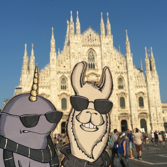 Mort and Lorenzo in Milan