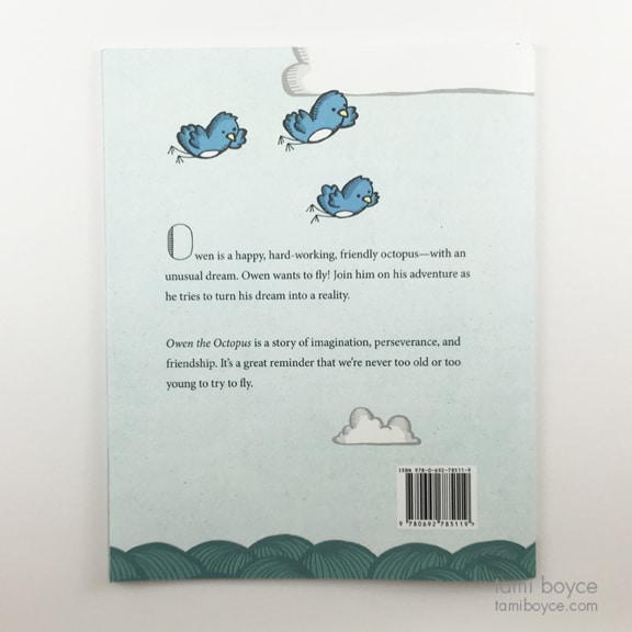 """Owen the Octopus"" Back Cover"
