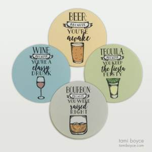 Coaster Set Cocktails and Dreams Series