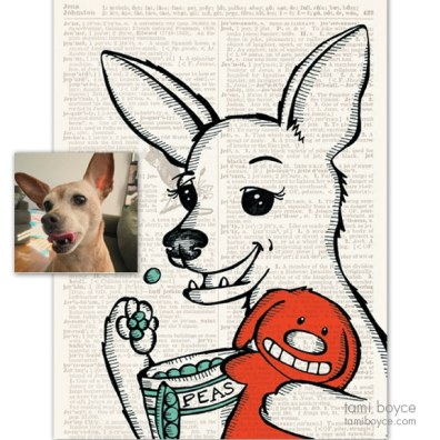 Pet portraits side by side_Jewel