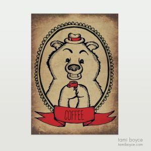 Bear with Coffee