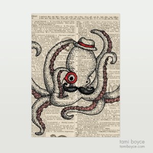"Octopus, ""Oscar"", Monocle"