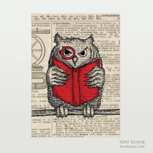 "Owl, ""Higgins"", Monocle"