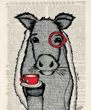 Oreo Cow_Monocle