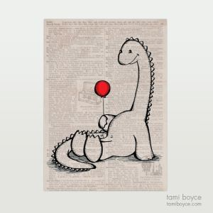 Dinosaur with Balloon