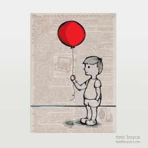 Little Boy with Balloon
