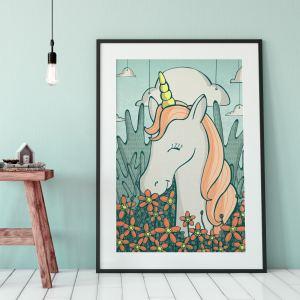 unicorn with flowers styles