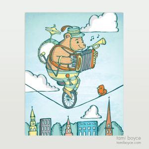 one bear band