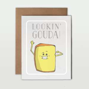 Love Pun Greeting Cards gouda