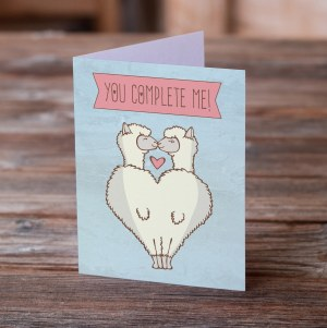 Llamas You Complete Me Greeting Card