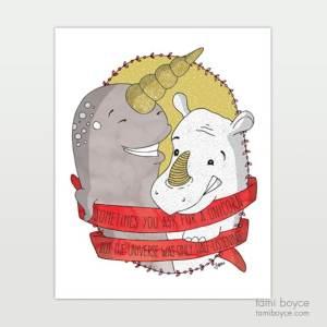universe half listening positivity snark rhino narwhal