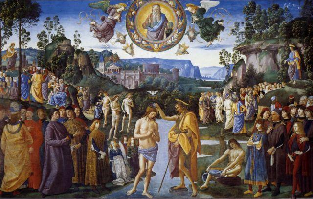 Pietro Perugino, The Baptism of Christ, Sistine Chapel, Rome, Italy