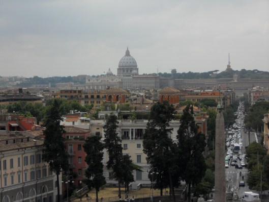 View of Rome from Borghese Gardens